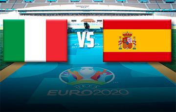 Италия – Испания: после первого тайма счет 0:00