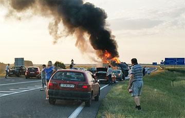 Возле «Линии Сталина» под Минском произошла жуткая авария