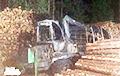 Под Ивье сожгли трактор для заготовки древесины?
