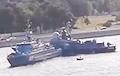 В России во время репетиции парада ВМФ столкнулись два корабля