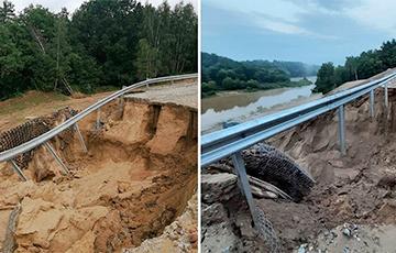 Что известно о новом мосте в Гродно, который уже размывало две недели назад