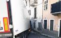 Беларускі дальнабойнік знёс гаўбец жылога дома ў прыгарадзе Турына, а італійцы яго накармілі і дапамаглі выехаць
