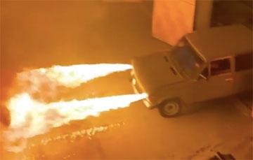 Видеохит: Механик оснастил «Жигули» двумя огнеметами