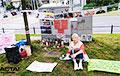 Акция солидарности прошла у посольства Беларуси в Варшаве