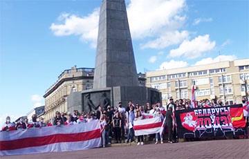 Белорусы Лодзи и Белостока вышли на массовые акции солидарности