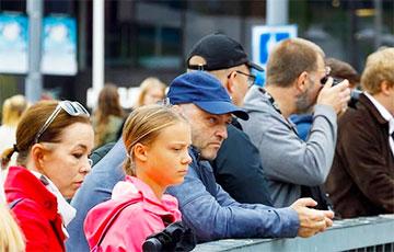 На акции солидарности с Беларусью в Швеции заметили Грету Тунберг
