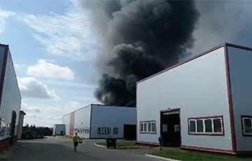 На территории Минского областного технопарка пожар