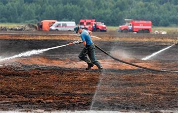 В Петриковском районе две недели тушили торфяной пожар