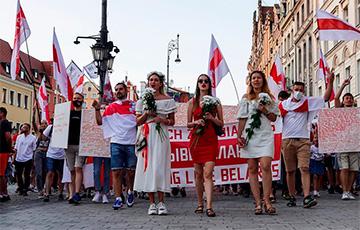 Вялікі марш салідарнасці з Беларуссю адбыўся ва Ўроцлаве
