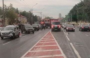 Минск застрял в 8-балльных пробках
