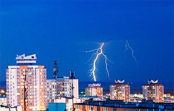 Три подстанции отключились в Минской области из-за грозы