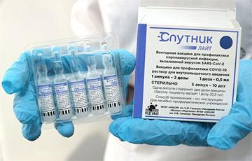 В Минске начали прививать однодозовой вакциной «Спутник Лайт»