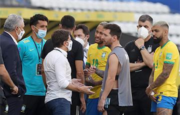 Футбольный матч Бразилия — Аргентина прерван из-за COVID-19