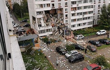 Несколько этажей жилого дома рухнули при взрыве в Подмосковье