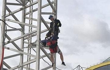 В Минске машинисту башенного крана стало плохо на высоте 40 метров