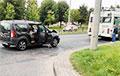 В Гродно столкнулись троллейбус и такси