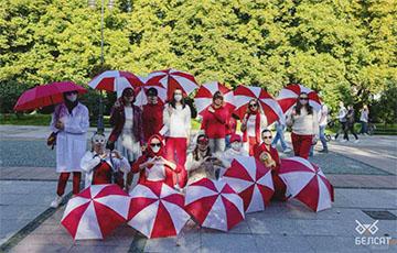 Белоруски Белостока вышли на прогулку солидарности с минчанками