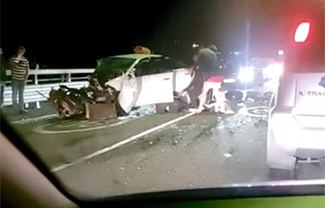 В России показали видео аварии с Ксенией Собчак
