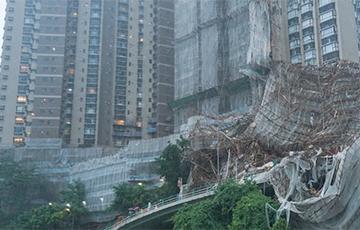 Гонконг накрыл мощный тайфун: видео