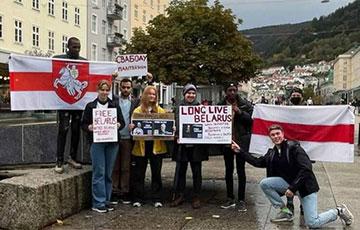 В Норвегии студенты организовали акцию солидарности с белорусами