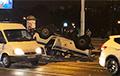 В Минске перевернулся милицейский автомобиль