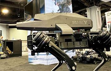 В США робота-пса вооружили снайперской винтовкой