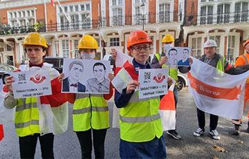 Diaspora Activists In London Rattled Helmets In Support Of Belarusian Workers