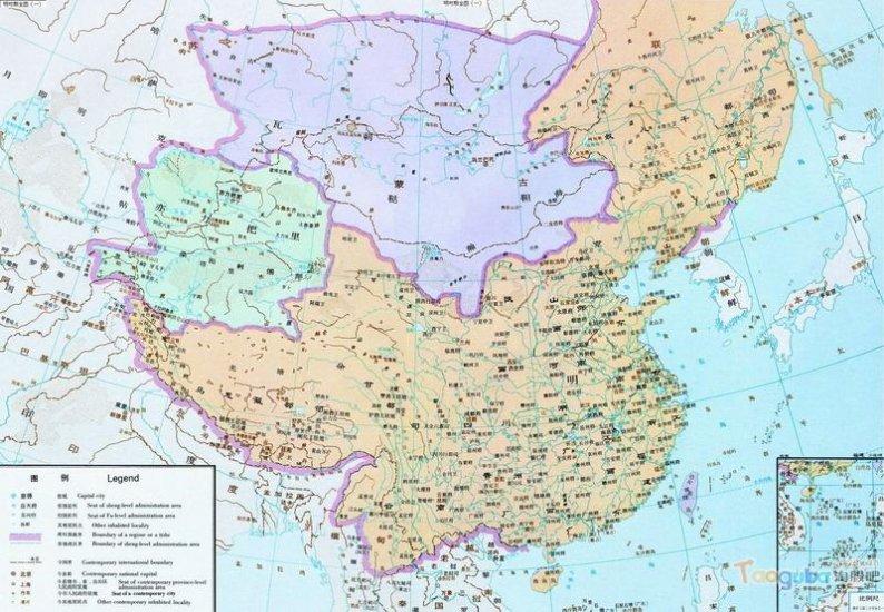 карта Китая Династия Мин ( 1368 - 1644)