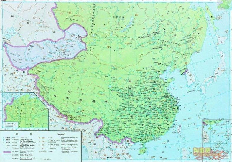 карта Китая Династия Юань (1279 - 1368)