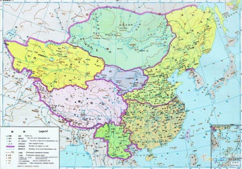 карта Китая Династия Сун (960 - 1279)