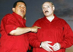 """Chavez to Laukshenka: """"I have brought you greetings from axis of evil"""""""