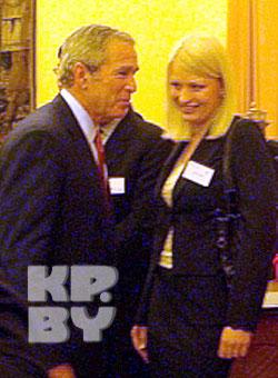 Дачка Казуліна гутарыла з Джорджам Бушам без перакладніка (Фота)