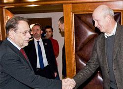 Хавьер Солана встретился с Милинкевичем и Козулиным