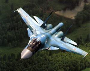 Russian Su-34 fighter in sky over Belarus (Photo)