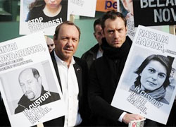 Jude Law and Kevin Spacey against dictatorship of Lukashenka (Photo, video)