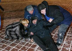 Andrei Sannikov was taken to the KGB, Irina Khalip is in the detention centre at Okrestina (Photo)