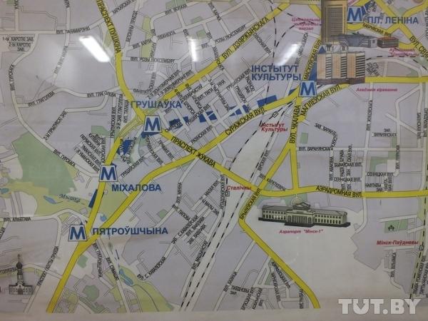 Карта минска минск