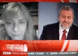 Iryna Khalip and Andrei Sannikov meet on BBC