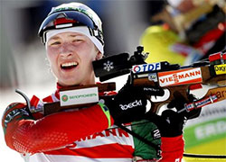 Domracheva took the �silver� in the individual race in Oestersund