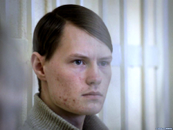 Political prisoner Lobau meets with his mother in correctional facility