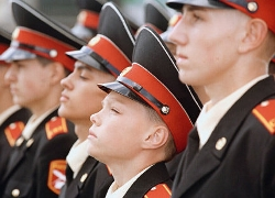 Cadets being drilled ahead of Lukashenka's visit