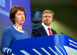 Catherine Ashton and Štefan Füle: Minsk to cooperate with UN Special Rapporteur