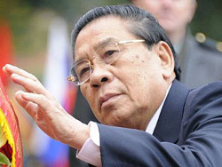 President of Laos arrives in Minsk