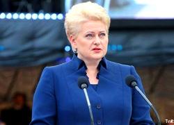 Даля Грибаускайте: Мы свидетели открытой агрессии и огромной лжи