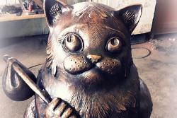 В Мурманске поставили памятник коту Семену