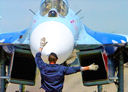Fighter jets and transport planes from Russia have landed in Babrujsk