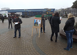 �Freedom to political prisoners!� leaflets confiscated at rally in Minsk