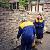 На Майдане баррикады заменили бетонными блоками