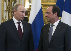 Putin and Hollande spoke about Ukraine