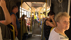Barysau residents complain about heat in buses